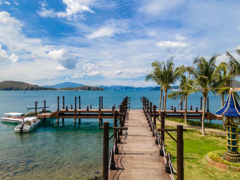 Cầu gỗ Hòn Tằm Nha Trang