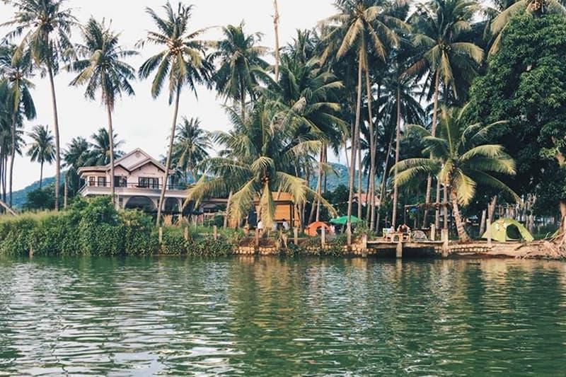Phát hiện một homestay có vườn dừa xinh đẹp