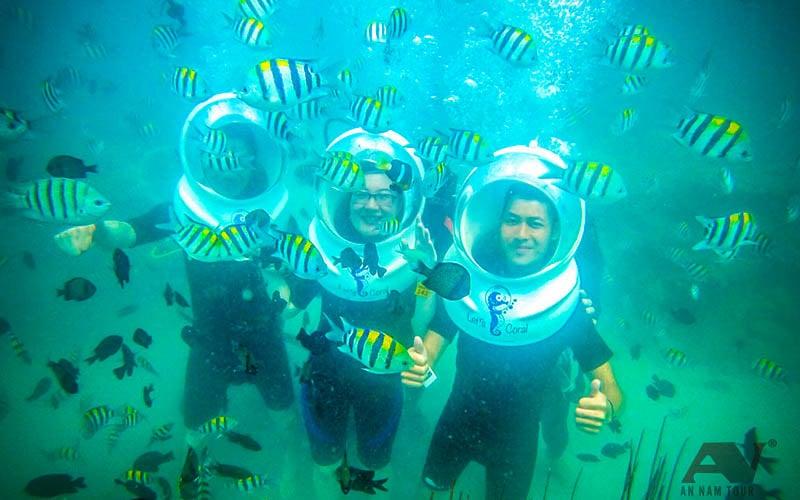 Tour đi bộ dưới đáy biển Nha Trang Sea Walking An Nam Tour