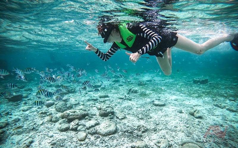 Lặn ống thở (snorkeling) tại Gành Nhảy